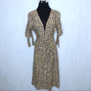 Faithfull the Brand Leopard Print Midi Dress 6